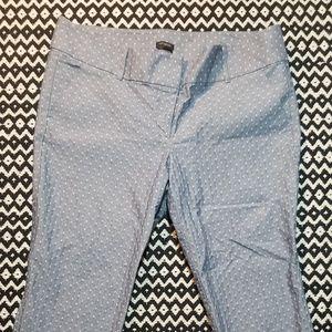 ANN TAYLOR Signatire cropped snowflake pants sz 16